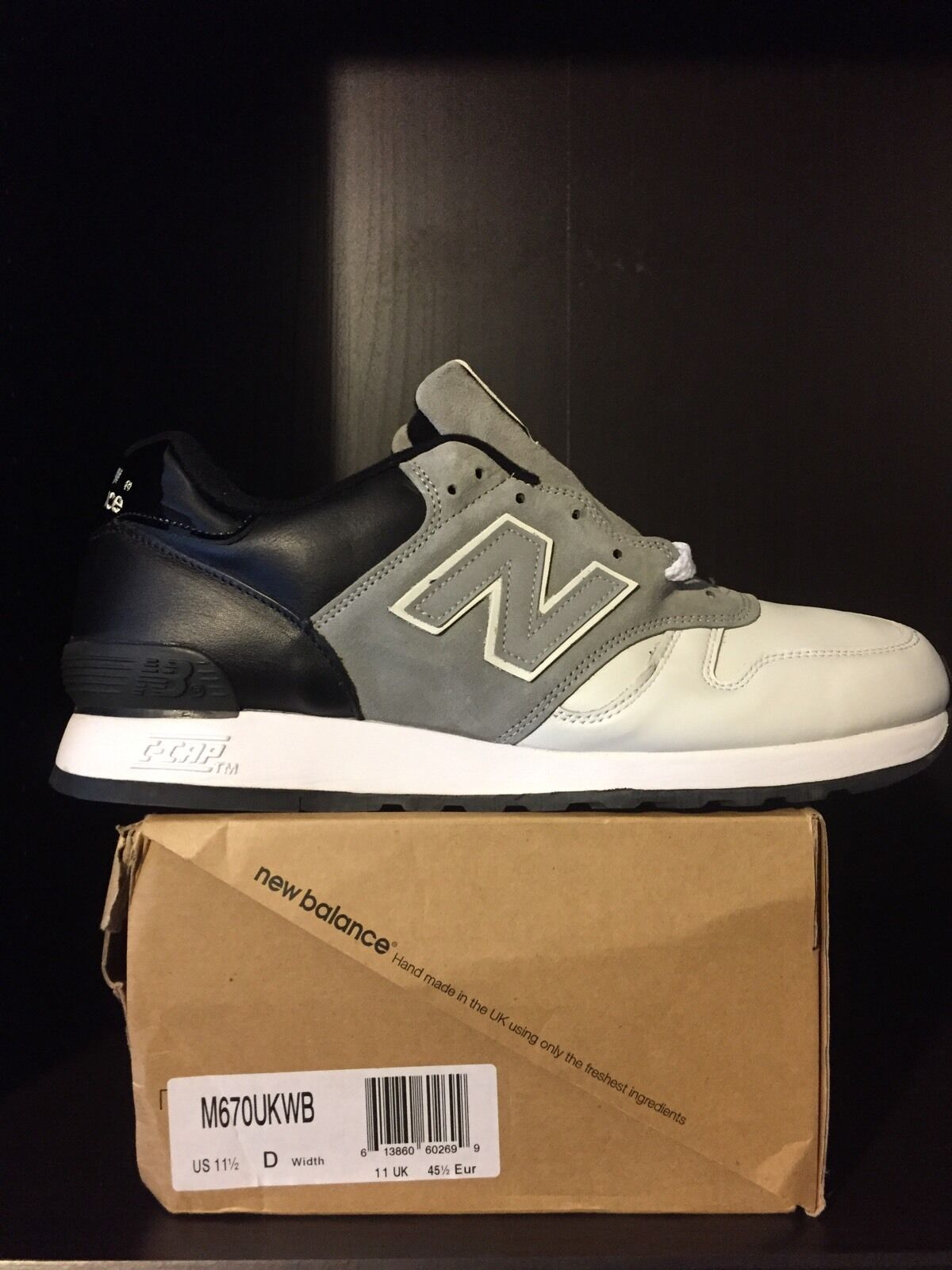 2007 New Balance M670UKWB  Weißhead  - US 11.5 - Made in England - RARE