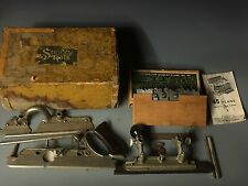 1940's~STANLEY No. 45 COMBINATION PLANE IN ORIGINAL BOX WITH SWEETHEART CUTTERS~