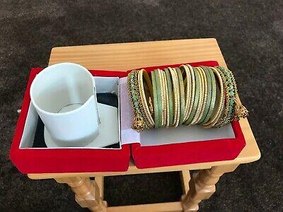 Bellissimo Asiatico Matrimonio Braccialetti Set, Buone Condizioni, Utilizzati Una Sola Volta, Affare-mostra Il Titolo Originale