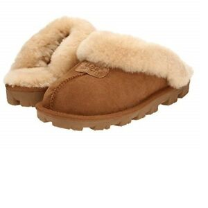 36e0c042ef8 UGG Women s Shoes Coquette Soft Cozy Slippers Sandals Chestnut 5125 ...