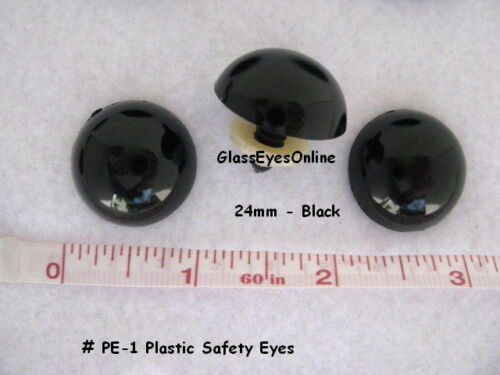 5 PAIR 24mm or 27mm or 30mm or 34mm BLACK Safety EYES Teddy Bear Puppet PE-1