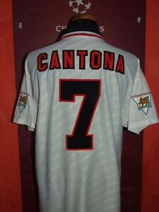 CANTONA-MANCHESTER-UNITED-1996-1997-MAGLIA-SHIRT-CALCIO-FOOTBALL-MAILLOT-JERSEY