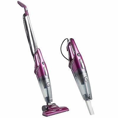 VonHaus 2 in 1 Hand Held & Upright Stick Bagless Vacuum Cleaner 600W - Purple