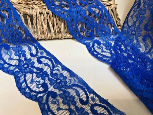 Nottingham 6cm/2.25 Royal Blue Flat Lace Trim.Sewing/Craft *FREE 1ST CLASS*