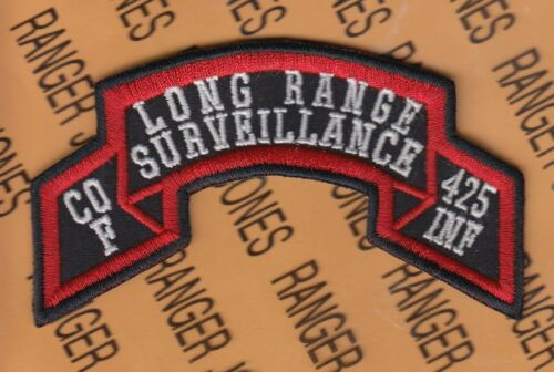 Co F 425th INFANTRY MI ARNG LRS AIRBORNE RANGER scroll patch