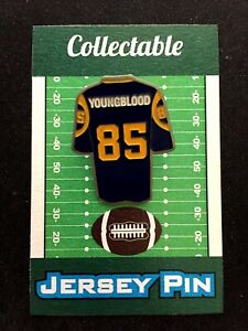 size 40 cfb9c 6944f Los Angeles Rams Jack Youngblood jersey lapel pin ...
