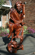 Chinese Antique Carved Boxwood Statue of Li Tieguai #20140206