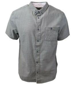 Quiksilver-Men-039-s-Green-Waterfall-S-S-Woven-Shirt-Retail-55