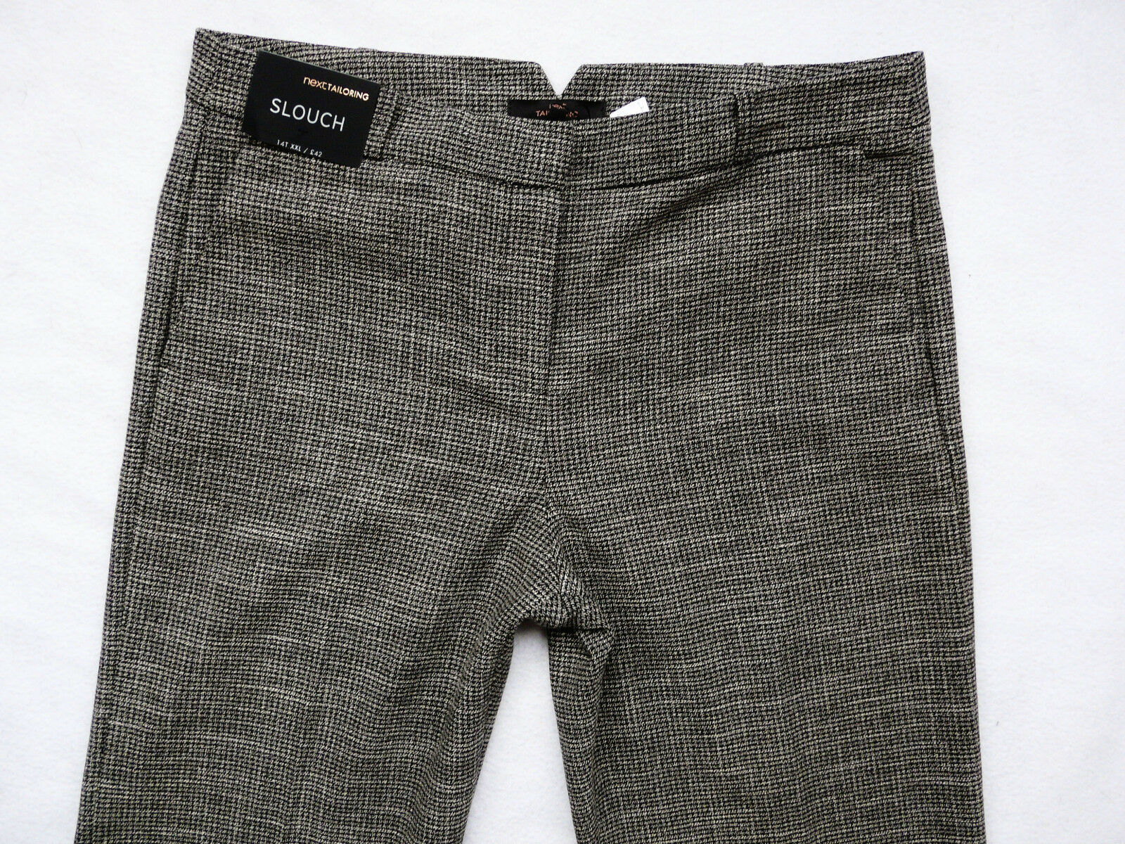 BNWT NEXT Premium Work grey warm relaxed slouch office smart work trousers tall