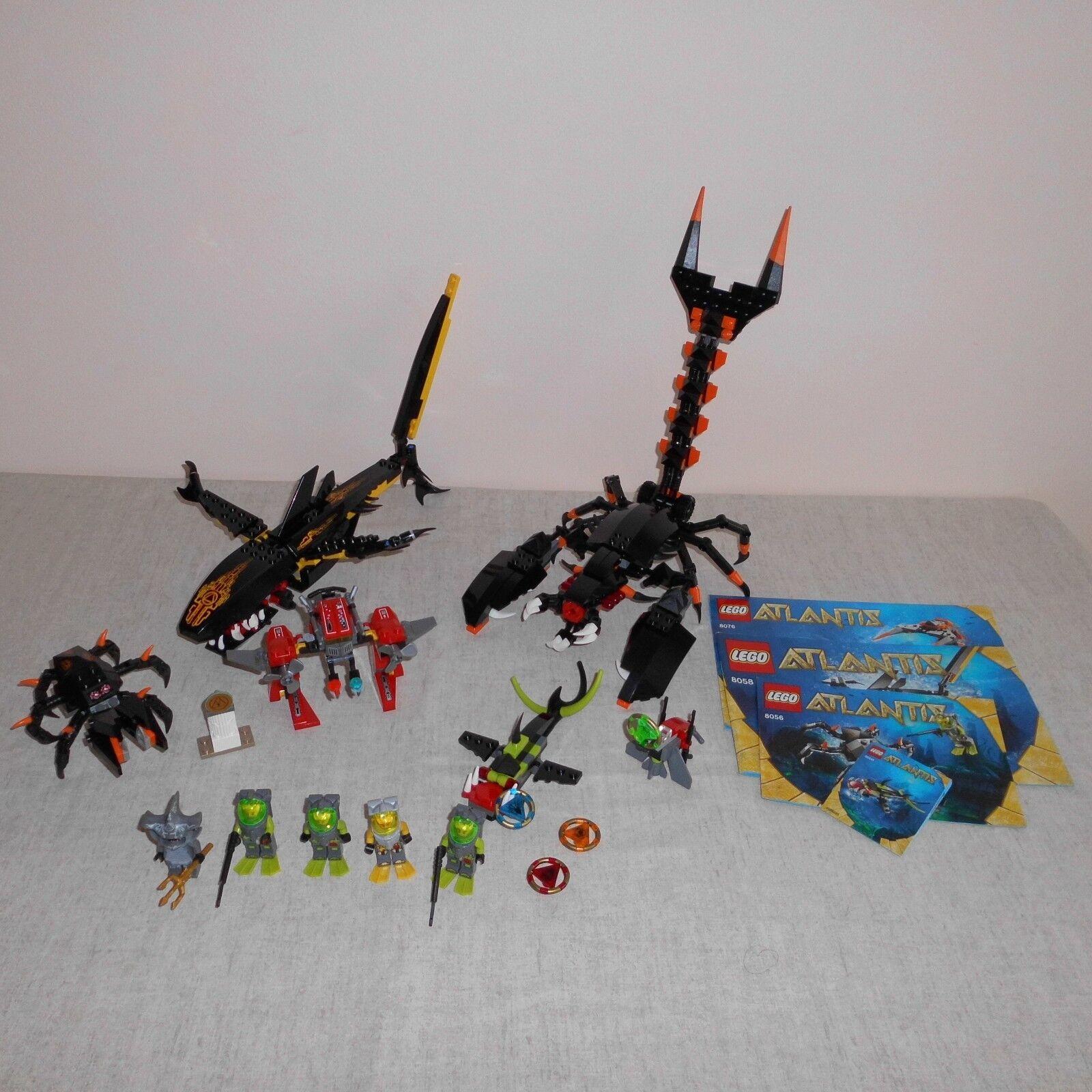 LEGO Atlantis Set 8056, 8058, 8076, 7977 & 30041 con 5 MINIFIGURES
