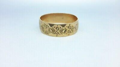 size 4.25 vintage 10k gold Winsome band