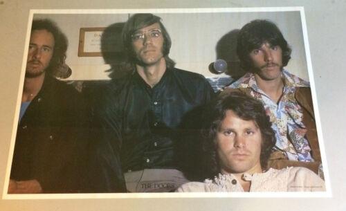 vintage poster The Doors Group Shot Photograph Kard Pin-Up 1970's Jim Morrison