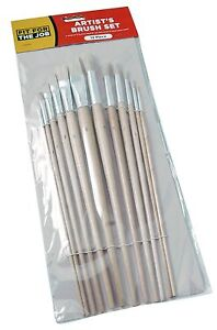 FFJ-12-Piece-Artists-Brush-Set-Fitch-Type-Brushes-Natural-Bristles-FFJABS01