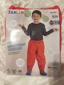 afbe17cfb New Lupilu Kids Waterproof Trousers Warm With Fleece 86 92 Cm (12-24 ...