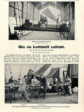 Wie ein Luftschiff entsteht Historischer Bericht mit seltenen Aufnahmen von 1901