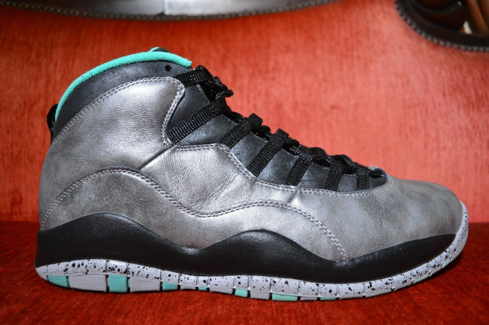 WORN 2X NIKE Air JORDAN 10 RETRO X 30TH LADY LIBERTY Steel Powder 705178-045