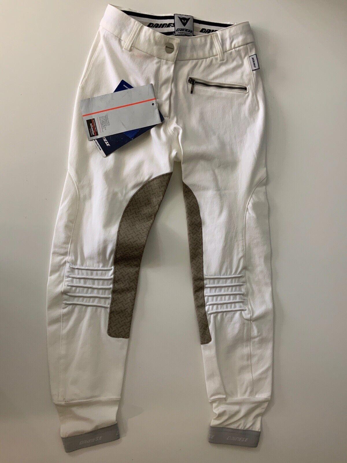 Dainese equestrain nuevo prestigio Pantalones Talla 40 Reino  Unido 8 blancoo Puro Pantalones  envío gratuito a nivel mundial
