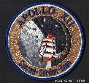 APOLLO-12-LION-BROTHERS-VINTAGE-ORIGINAL-NASA-Hallmarked-CLOTH-BACK-SPACE-PATCH