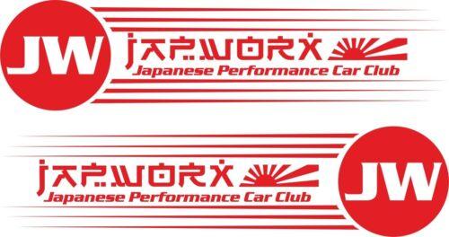 2 x JAPWORX CANNONBALL GT RUN VINYL CAR STICKER jdm decal drift logo