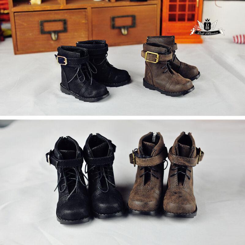 1//4 BJD Shoes MSD Dollfie DREAM Black Nubuck leather Boots MID DOD SOOM AOD LUTS