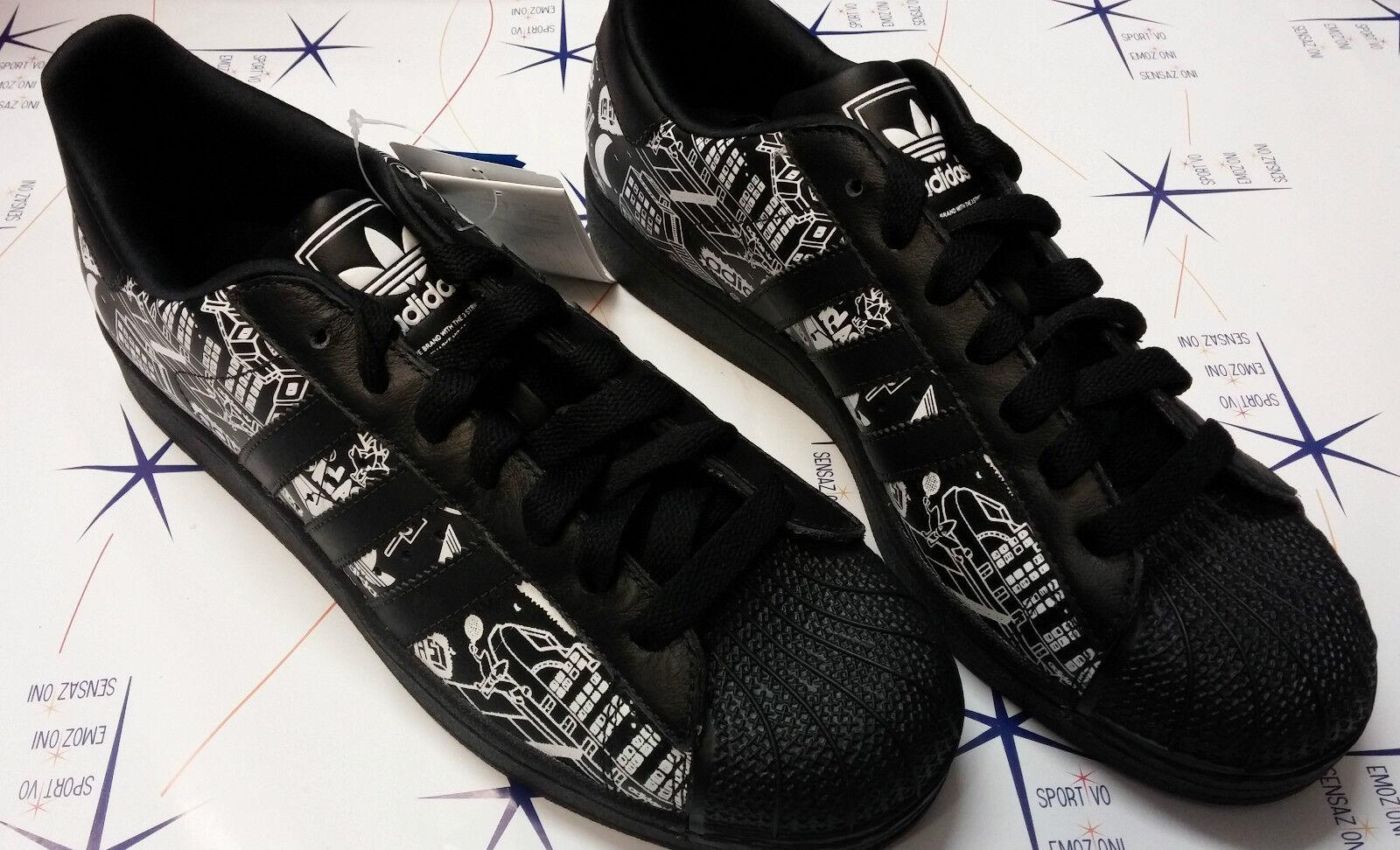Scarpe casual da uomo  Scarpe adidas Superstar 2 supercolor bianco - nero sneakers