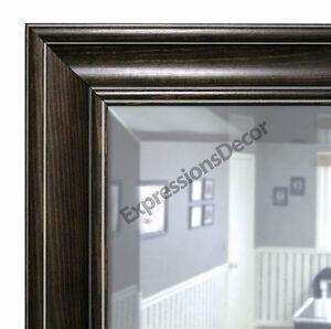 Custom Diego Black Beveled Wall Mirror Mantle Bathroom Art Decor 80614 967 Ebay