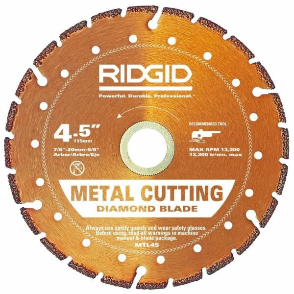 3 x ridgid 45 in metal cutting diamond cut blade model mtl45 ebay keyboard keysfo Images