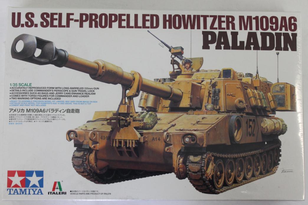 Tamiya Us Semovente Howitzer M109a6  Paladino in 1 35 37012  alta qualità