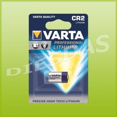 Varta CR2 Lithium 3 Volt Batterie DLCR2 KCR2 3V 1er Blister 10x 10 Stk