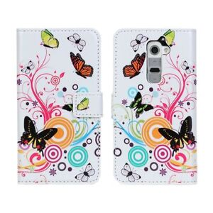 For-LG-G2-Butterfly-Flower-Design-Leather-Card-Wallet-Flip-Case-Cover-Stand