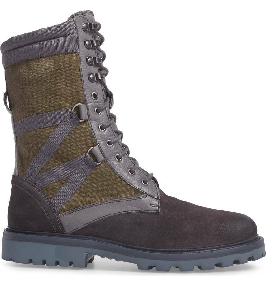 Size 9 MICHAEL BASTIAN Ultra Force Combat Boots Leather Suede & Canvas NEW 290