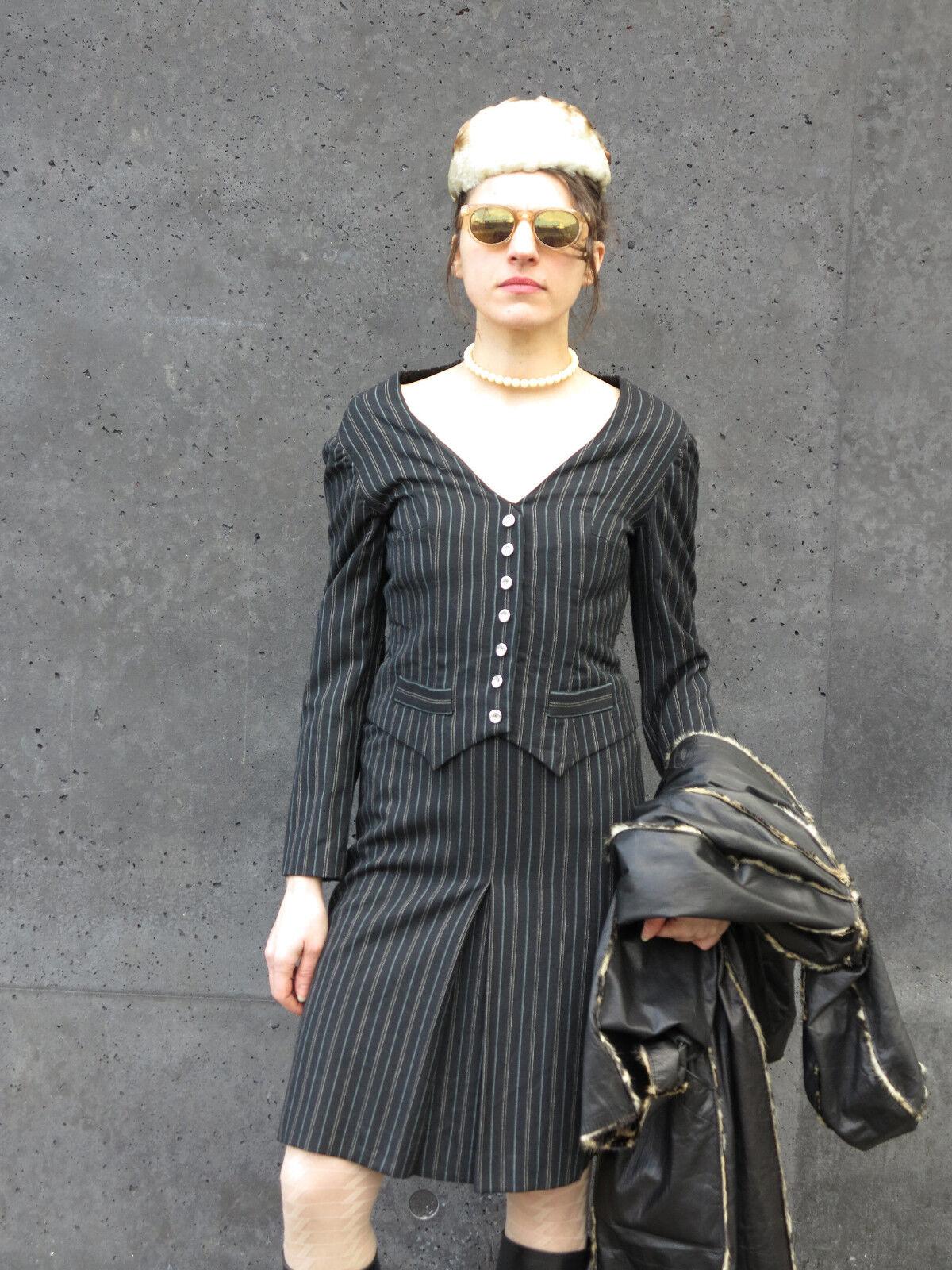 Exclusiv fff Damen Kleid Nadelstreifenkleid 90er TRUE VINTAGE 90s damen dress