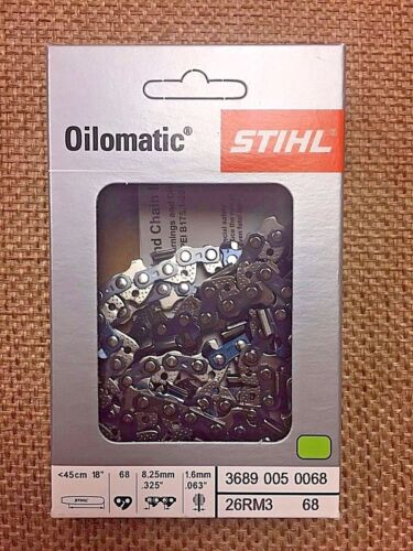 .063 Gauge OEM Stihl  26RM3 68 3689 005 0068 Chainsaw Chain .325 Pitch 68DL