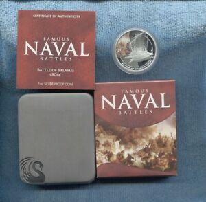 2010-1-Battle-of-Salamis-480-BC-FAMOUS-NAVAL-BATTLES-SILVER-PROOF-COIN-War