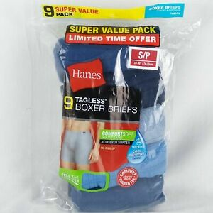 Hanes-Boxer-Briefs-9-Pack-Mens-Assorted-Colors-Tagless-No-Ride-Up