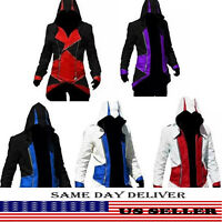 Assassins Creed With Hoodie Jacket Coat Cosplay Costume