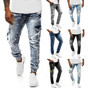 Jeanshose-Roehrenjeans-Straight-Joggerhose-Hose-Clubwear-Herren-OZONEE-10065-MIX