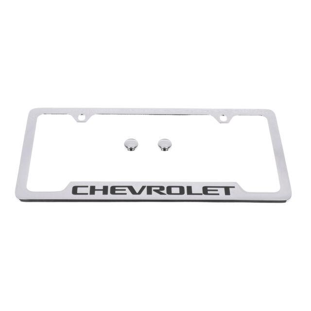 Chevrolet Black Logo License Plate Holder - 19330378   eBay