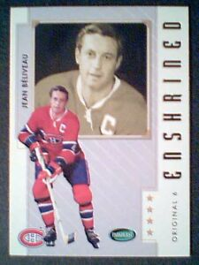 JEAN-BELIVEAU-MONTREAL-CANADIENS-ORIGINAL-SIX-ENSHRINED-HOCKEY-LEGEND-CARD