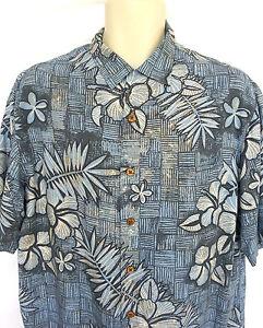 Caribbean-Men-039-s-Size-Medium-Shirt-Short-Sleeve-Rayon-Hawaiian-Tropical