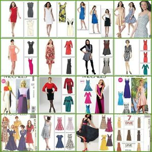 OOP-McCalls-Sewing-Pattern-Misses-Plus-Size-Dress-You-Pick