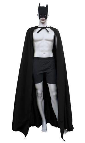 Batman Wide 8 Panel Gotham City Dark Knight Costume Cape WITH DOWEL ROD POCKETS