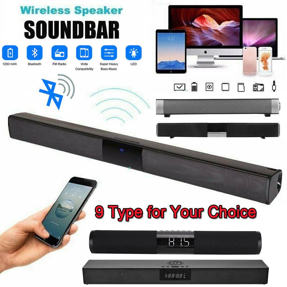 Type De Haut Parleur bluetooth 5.0 wireless tv soundbar speaker 3d sound bar home theater  subwoofer