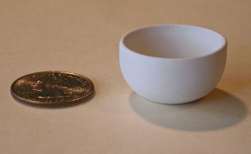 "One /""large serving bowl/"" bisque scale miniature by Tim Van Schmidt"