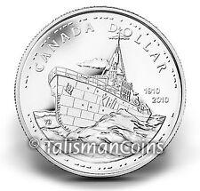 Canada 2010 Navy Centennial 100th Corvette HMCS Sackville $1 Silver Dollar BU