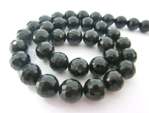 Filamento de ONYX bolas perlas FACETADAS 10mm 1 categoría redondo negro