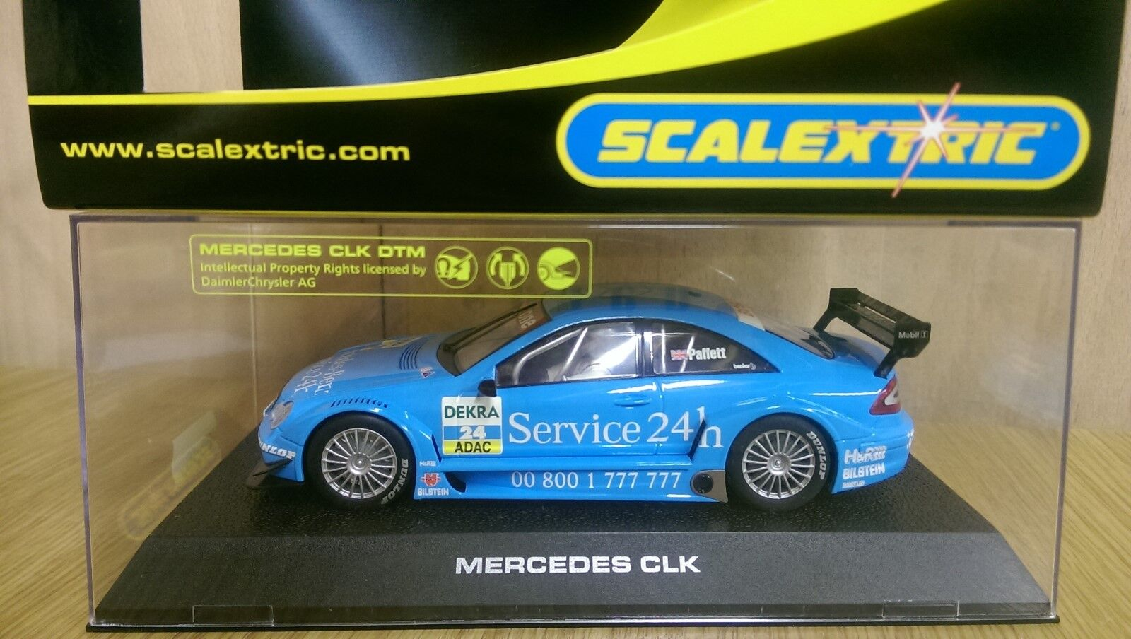 SCALEXTRIC C2568 Mercedes CLK DTM Service 24h No24 Ltd Edition No. 0330 of 1000
