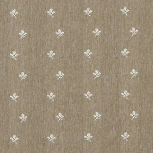 C639 Light Brown Ivory Mini Flowers Country Style Upholstery Fabric
