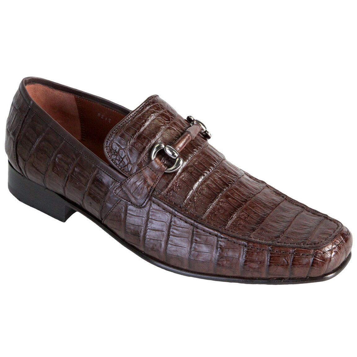 Los Altos Men's Genuine Caiman Belly Dress scarpe Slip On Casual Loafer Handmade