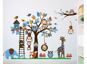 Das Bild Wird Geladen XXL Wandtattoo Afrika Tiere Baum Affe Wandsticker  Kinderzimmer
